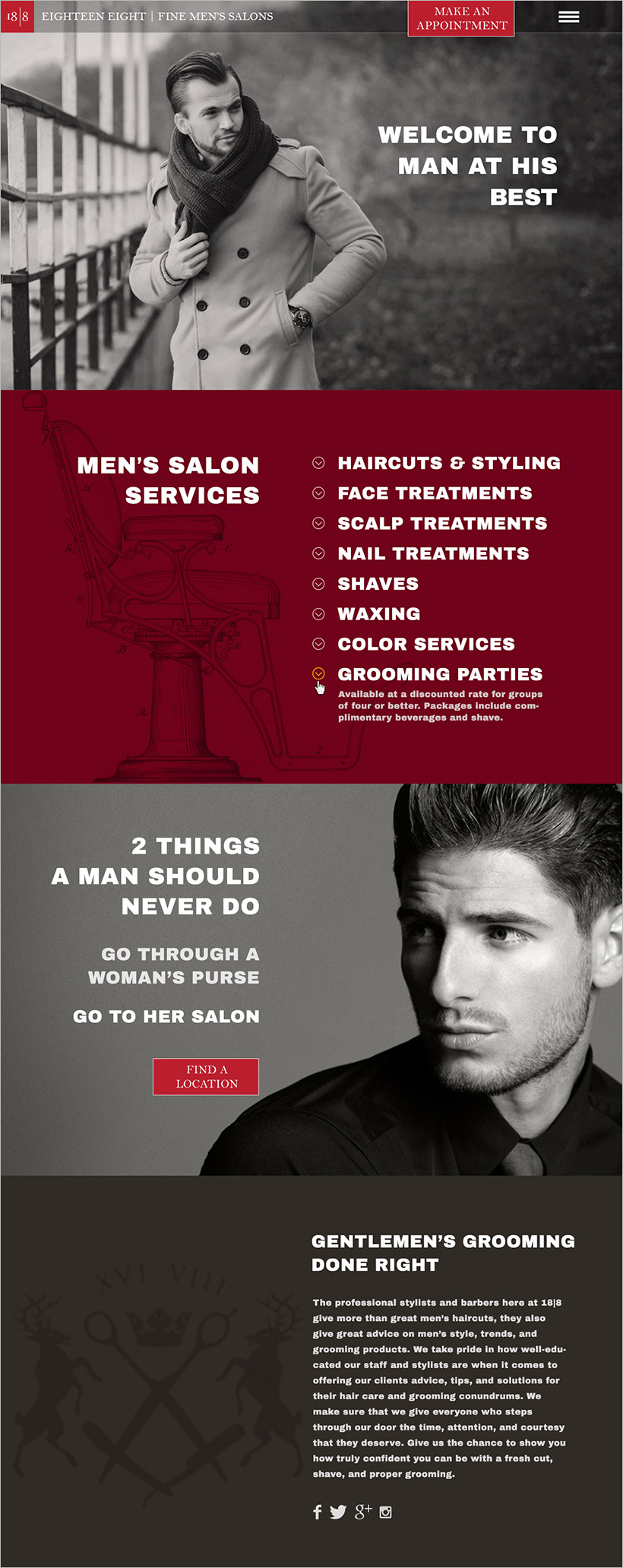 188 Mens Hair Salons